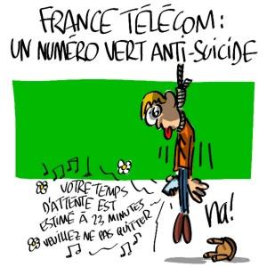Nactualités : france télécom : un numéro vert anti-suicide