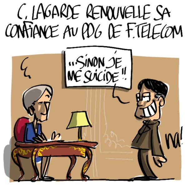 Nactualités : Christine Lagarde renouvelle sa confiance au PDG de France Telecom