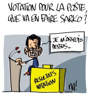 Nactualités : votation pour la Poste, que va en faire Nicolas Sarkozy ?