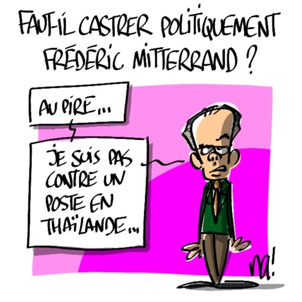 Nactualités : faut-il castrer politiquement Frédéric Mitterrand ?