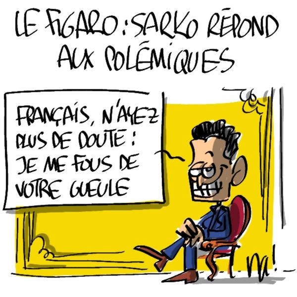 Nactualités : Nicolas Sarkozy répond aux polémiques dans «le figaro»