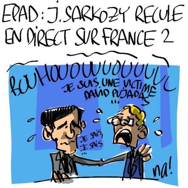 Nactualités : EPAD, Jean Sarkozy recule en direct sur France 2