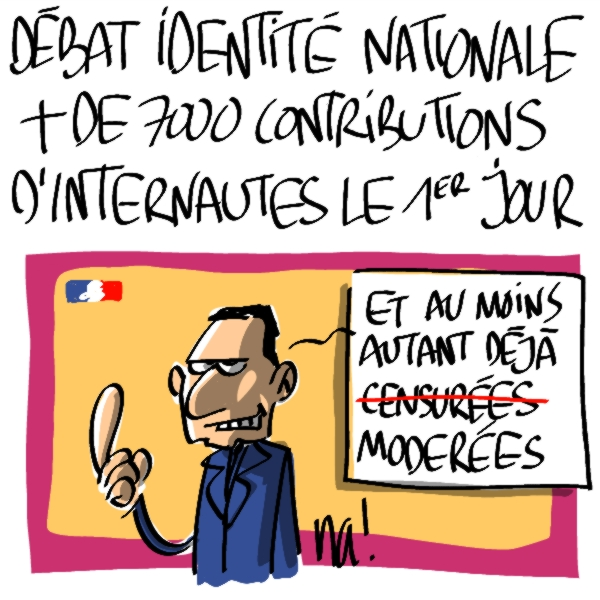 Nactualités : débat sur l'identité nationale, + de 7000 contributions d'internautes le premier jour !