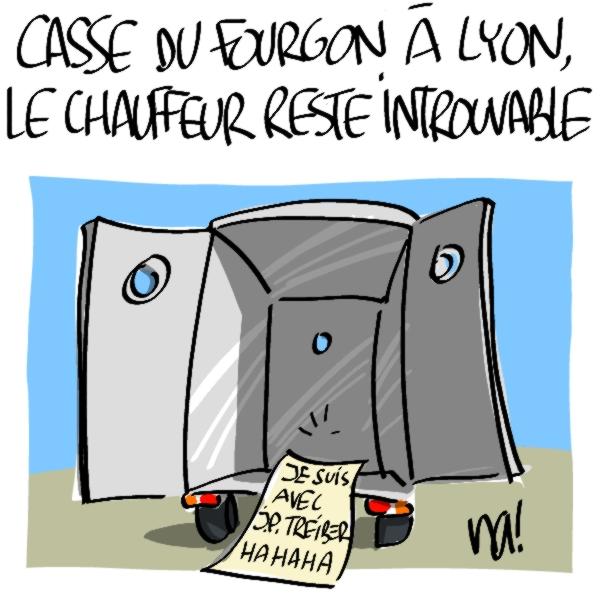 Nactualités : casse du fourgon blindé à Lyon, le chauffeur reste introuvable
