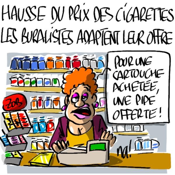 Nactualités : hausse du prix des cigarettes, les buralistes doivent adapter leur offre