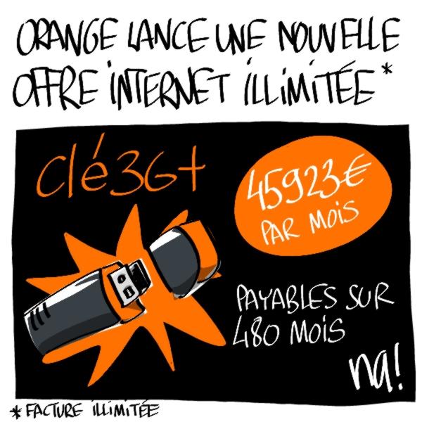 Nactualités : Orange lance une nouvelle offre internet illimitée