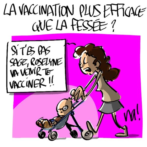 Nactualités : la vaccination plus efficace que la fessée ?