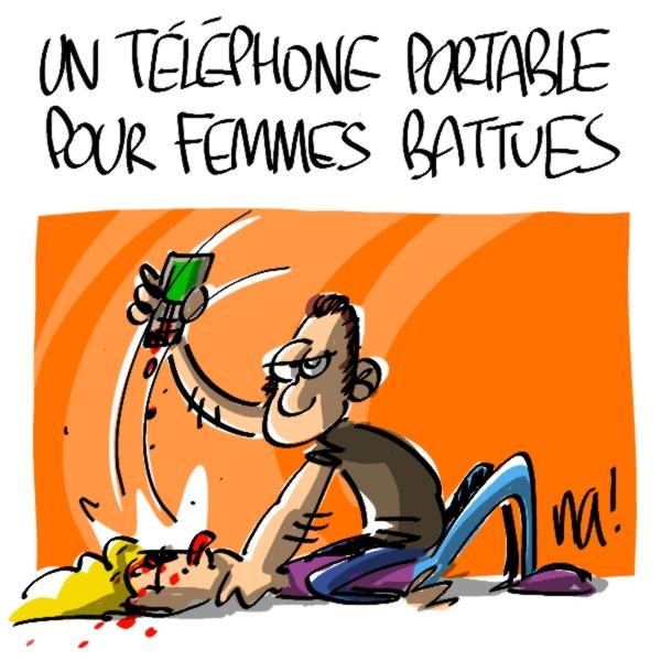 Nactualités : un téléphone portable pour femmes battues