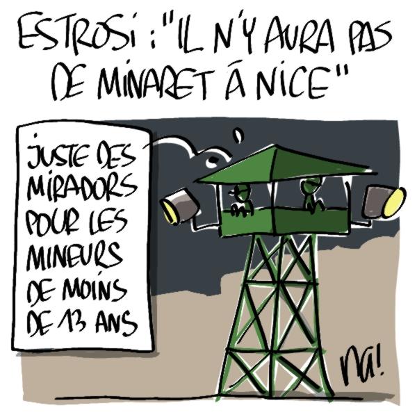 Nactualités : Estrosi : «il n'y aura pas de minaret à Nice…»