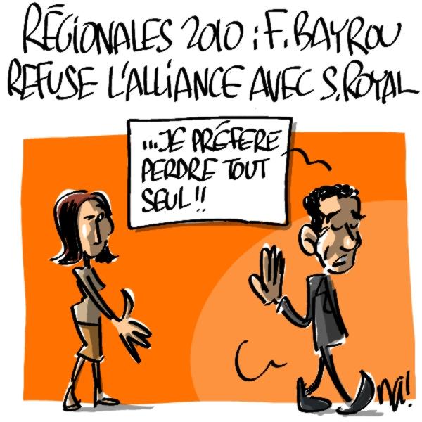 Nactualités : régionales 2010, François Bayrou refuse l'alliance avec Ségolène Royal