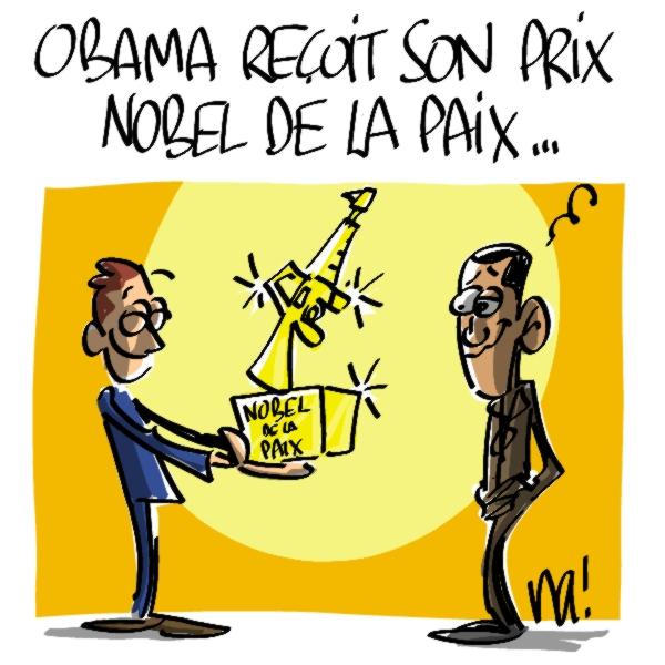 Nactualités : Obama reçoit son prix Nobel de la paix