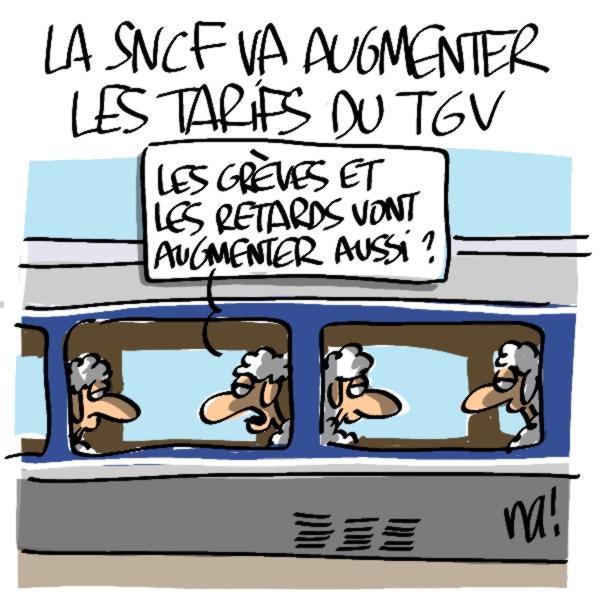 Nactualités : la sncf va augmenter les tarifs du TGV
