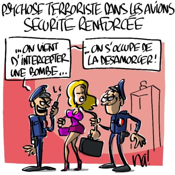 Nactualités : psychose terroriste dans les avions, sécurité renforcée