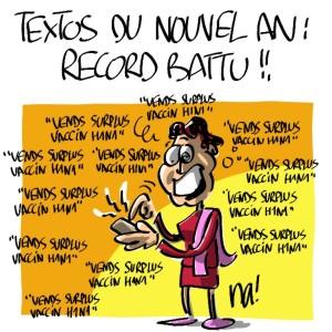 Nactualités : textos du nouvel an, record battu !