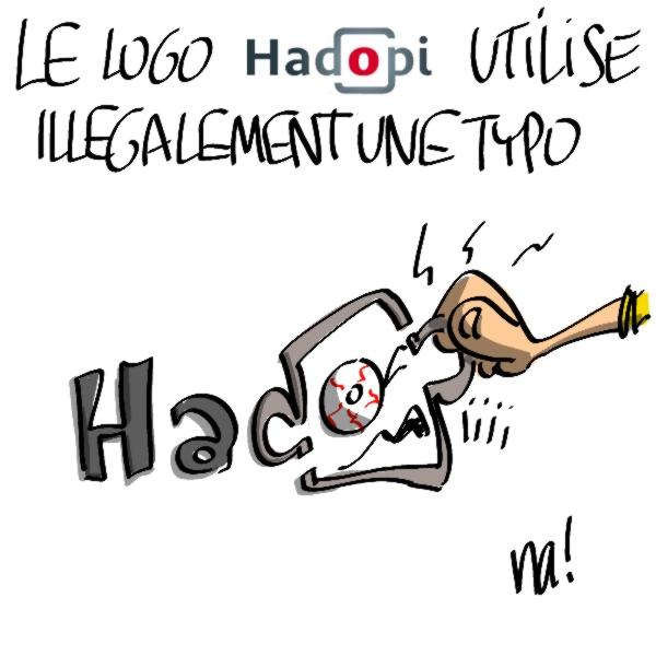 Nactualités : le logo «hadopi» utilise illégalement une typo