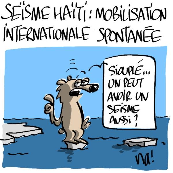 Nactualités : Séïsme à Haïti : mobilisation internationale spontanée