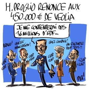 Nactualités : Henri Proglio renonce aux 450.000€ de Veolia