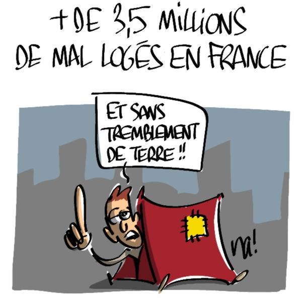 Nactualités : plus de 3,5 millions de mal logés en France