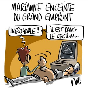 Nactualités : Marianne enceinte du grand emprunt