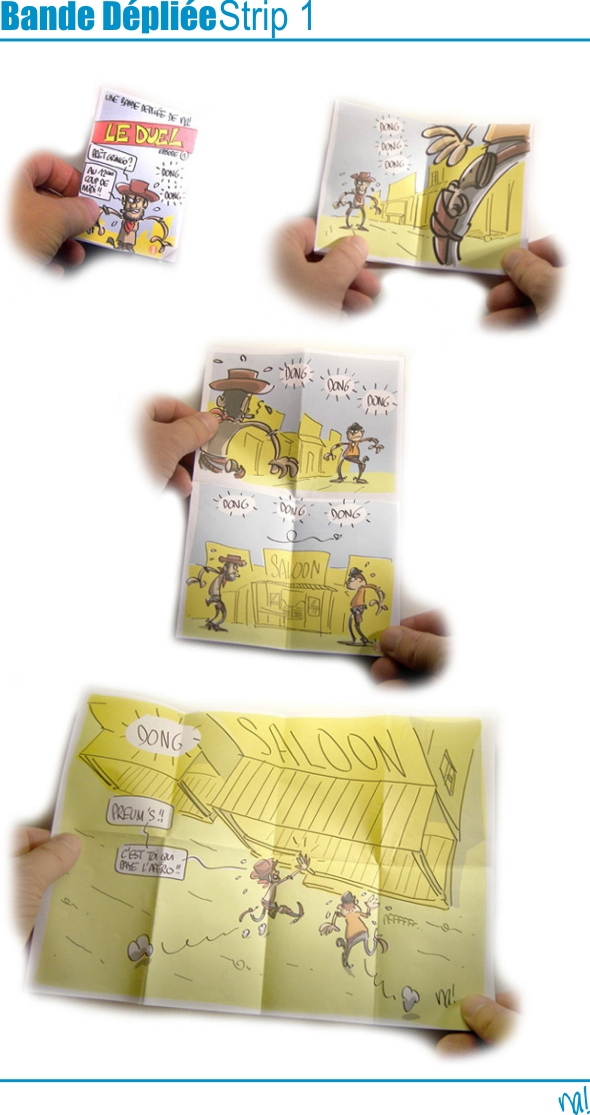 bande dépliée - strip 1