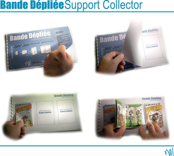 bande dépliée - support collector