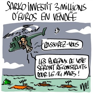 Nactualités : Nicolas Sarkozy investit 3 millions d'euros en Vendée