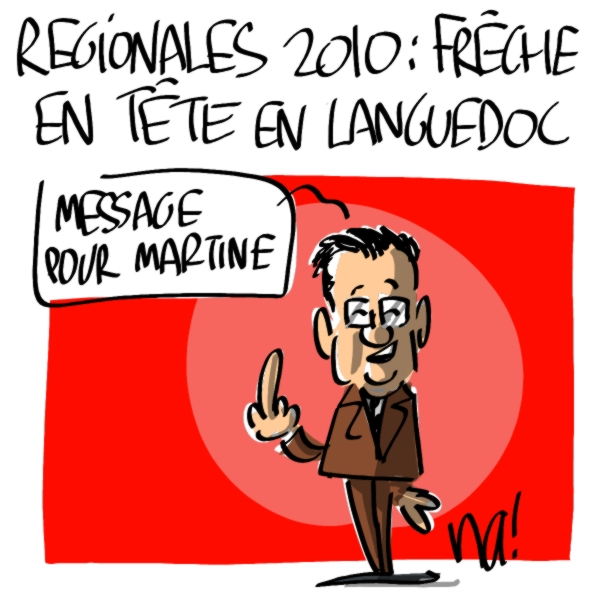 Nactualités : Régionales 2010, Georges Frêche en tête en languedoc