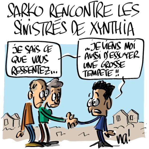 Nactualités : Nicolas Sarkozy rencontre les sinistrés de Xynthia