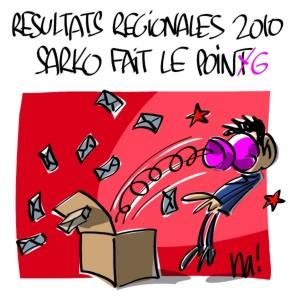 Nactualités : résultats régionales 2010, Nicolas Sarkozy fait le point
