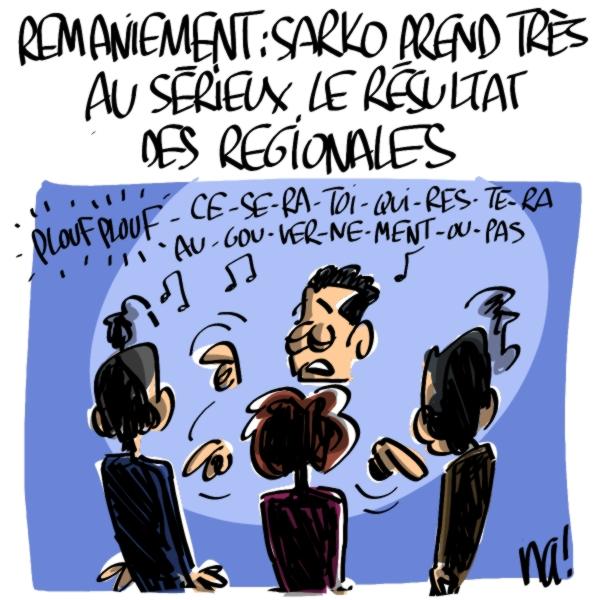 Nactualités : Nicolas Sarkozy prend très au sérieux le résultat des régionales
