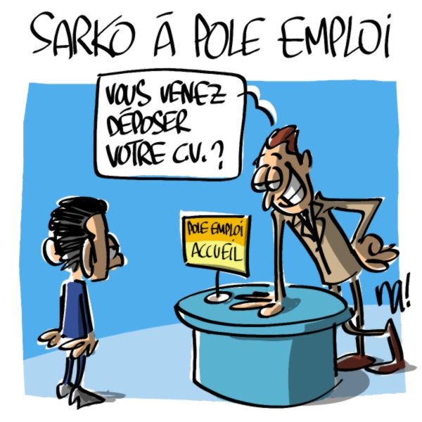 Nactualités : Nicolas Sarkozy à Pole Emploi