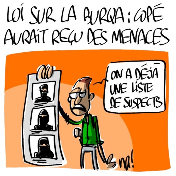 Nactualités : loi sur la burqa, Jean-François Copé aurait reçu des menaces