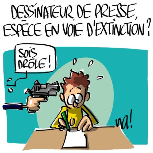 Nactualités : dessinateur de presse, espèce en voie d'extinction ?