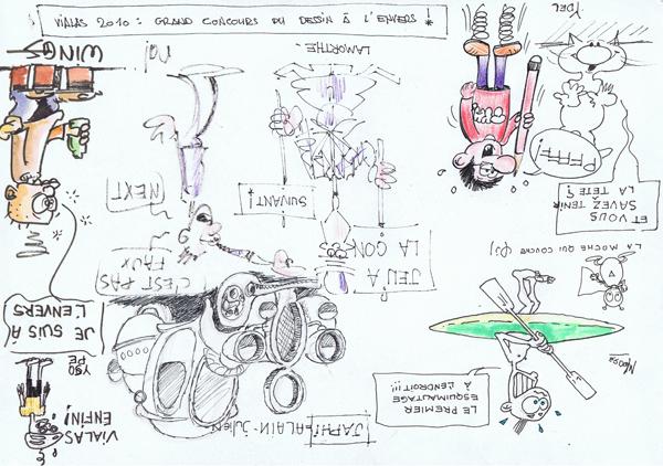 Hier, au 5e Festival de dessins d'humour et caricatures de Vialas (lozère)
