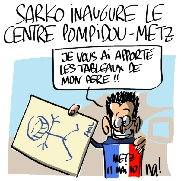 Nactualités : Nicolas Sarkozy inaugure le nouveau centre Pompidou-Metz