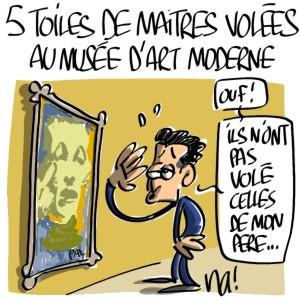 Nactualités : 5 toiles de Maîtres volées au Musée d'Art Moderne à Paris