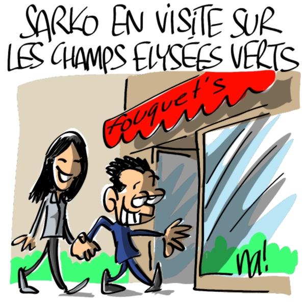 Nactualités : Sarko en visite sur les Champs Elysées «verts»