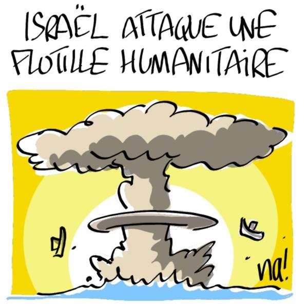 Nactualités : Israël attaque une flotille humanitaire