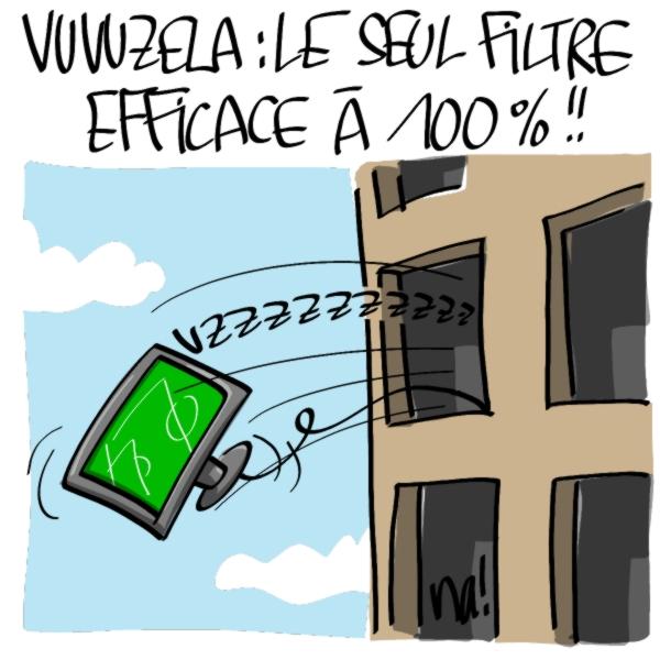 Nactualités : vuvuzela, le seul filtre efficace à 100% !!