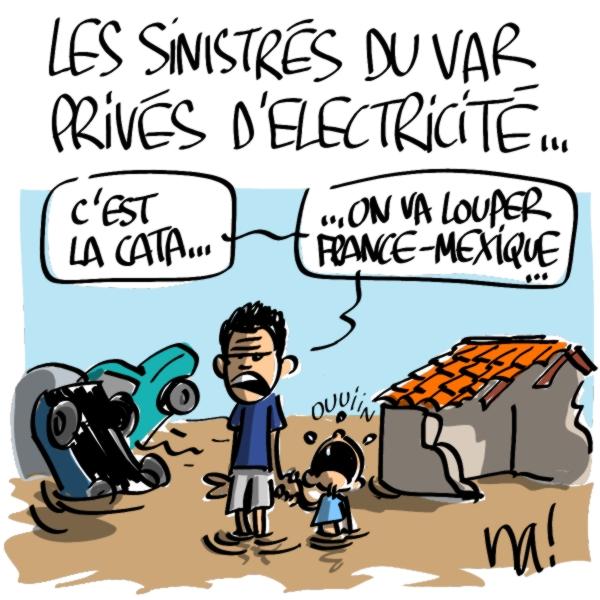 Nactualités : les sinistrés du Var privés d'électricité…