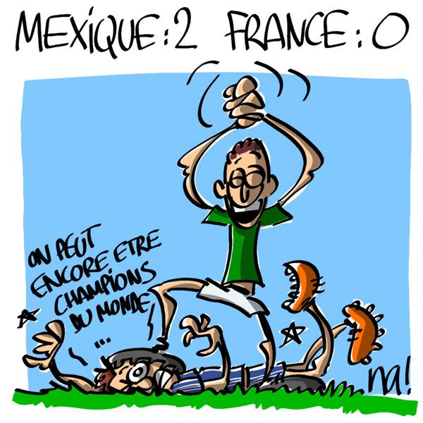 Nactualités : Mexique 2, France 0