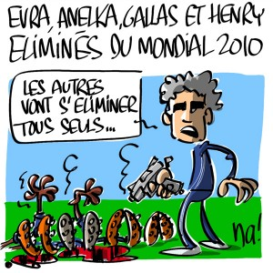 Nactualités :  Evra, Anelka, Gallas et Henry éliminés du mondial 2010