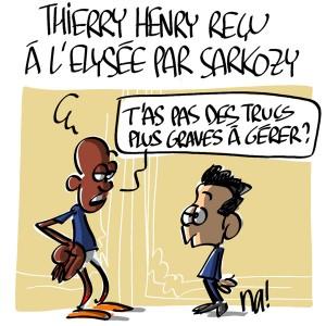 Nactualités : Thierry Henry reçu à l'Elysée par Nicolas Sarkozy