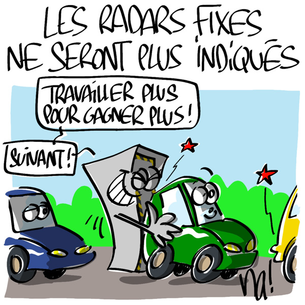 Nactualités : les radars fixes ne seront plus indiqués