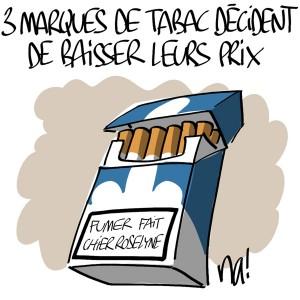 Nactualités : 3 marques de tabac décident de baisser leurs prix