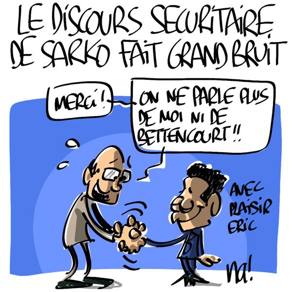 Nactualités : le discours sécuritaire de Nicolas Sarkozy fait grand bruit