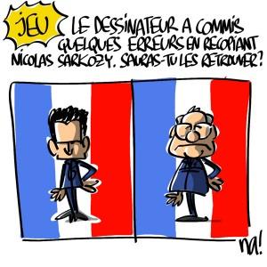 Nactualités : le dessinateur a commis quelques erreurs en recopiant Nicolas Sarkozy, sauras-tu les retrouver ?