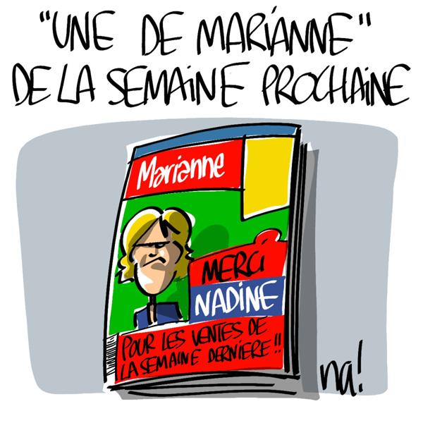 Nactualités : la Une de «Marianne» la semaine prochaine