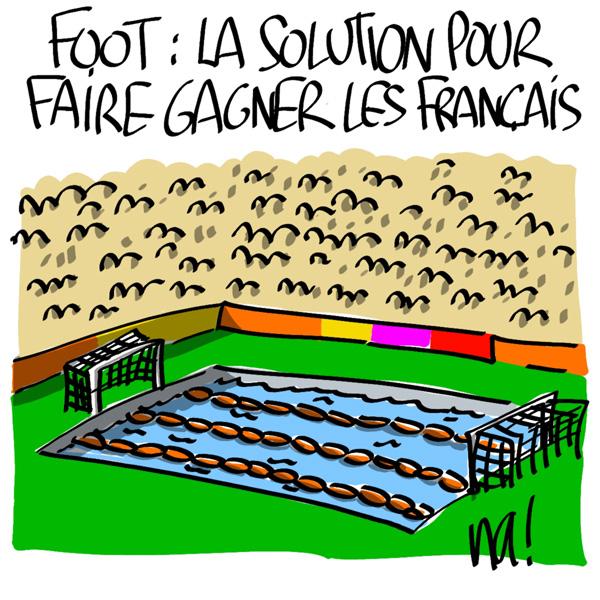 Nactualités : foot, la solution pour faire gagner les français.