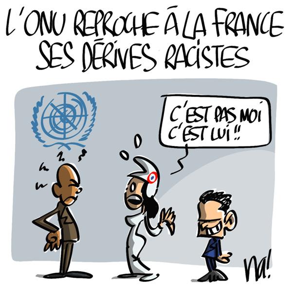 Nactualités : l'ONU reproche à la France ses dérives racistes